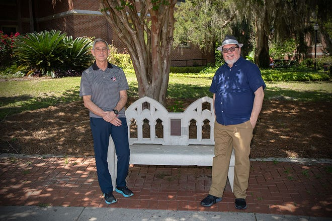 Professor of Physics Jorge Piekarewicz (L) and Professor of English Gary Taylor (R) have been named the 2021-2022 Robert O. Lawton Distinguished Professors.