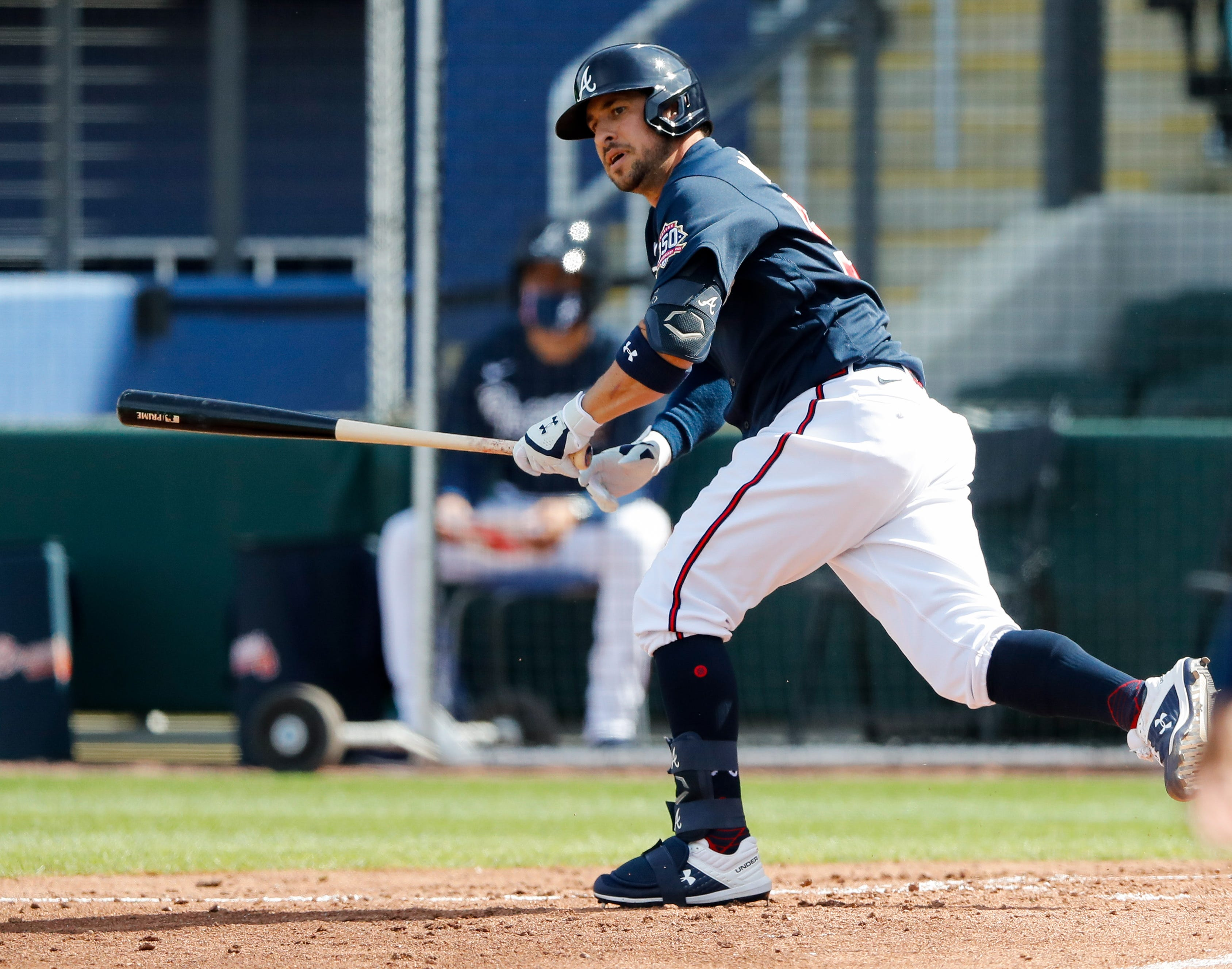 A movie waiting to happen : Braves infielder Sean Kazmar Jr. makes first MLB appearance since 2008