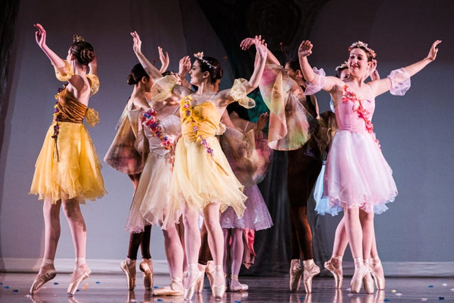 """The Sprites take the stage during """"Cinderella"""", presented by the Bartlesville Civic Ballet at the Bartlesville Community Center."""