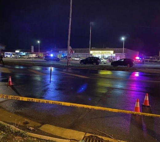 One person was killed and five injured in a shooting southeast of Columbus on Saturday. It was the 148th mass shooting in the country this year, according to the Gun Violence Archive.