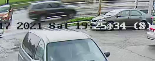 Authorities released photos of the SUV from Saturday's shooting
