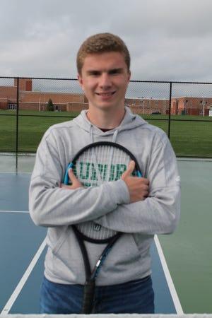 Aurora tennis standout Mitchell Curtis.