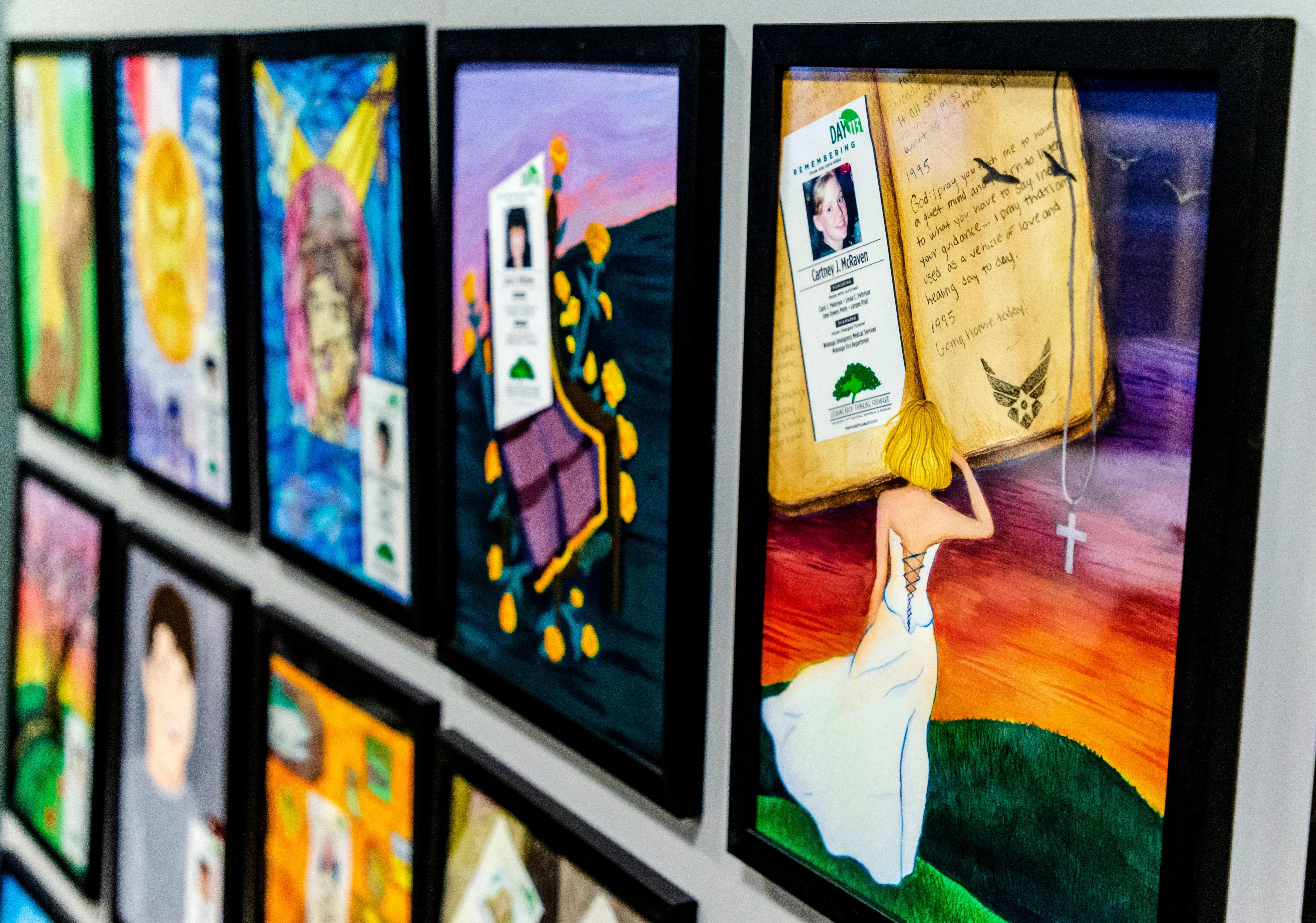 Oklahoma Teens Create Paintings Of Those Lost In Oklahoma City Bombing