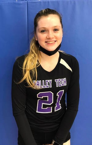 Valley Tech girls' volleyball captain Grace Arnold.