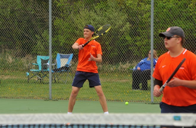 Galion's Zach Grimes and Jamie Hollis won the first doubles title at the Jim Grandy Invitational.