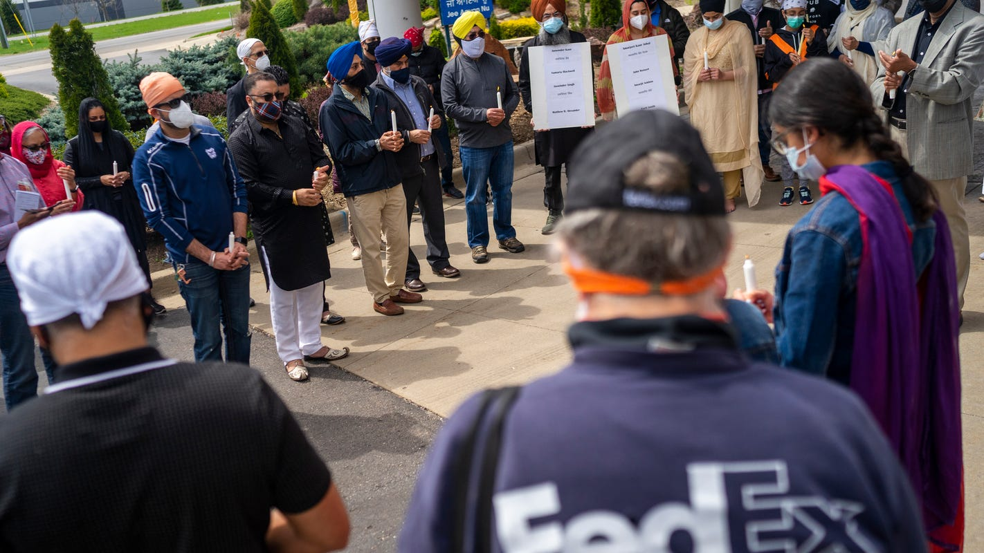 'We all mourn': Community honors FedEx shooting victims at Plymouth gurdwara