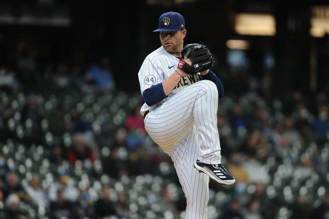 Milwaukee Brewers pitcher Brett Anderson.
