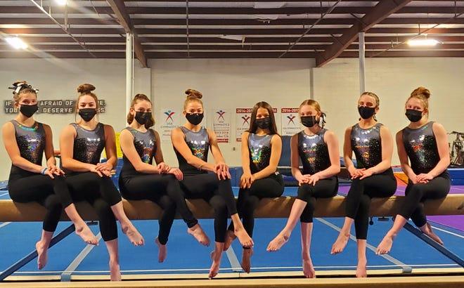Elevate Gymnastics & Athletics Level 7 and 8 gymnasts.