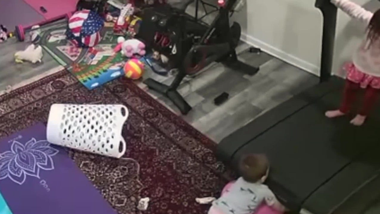 Disturbing video shows toddler being pulled under Peloton treadmill after consumer warning