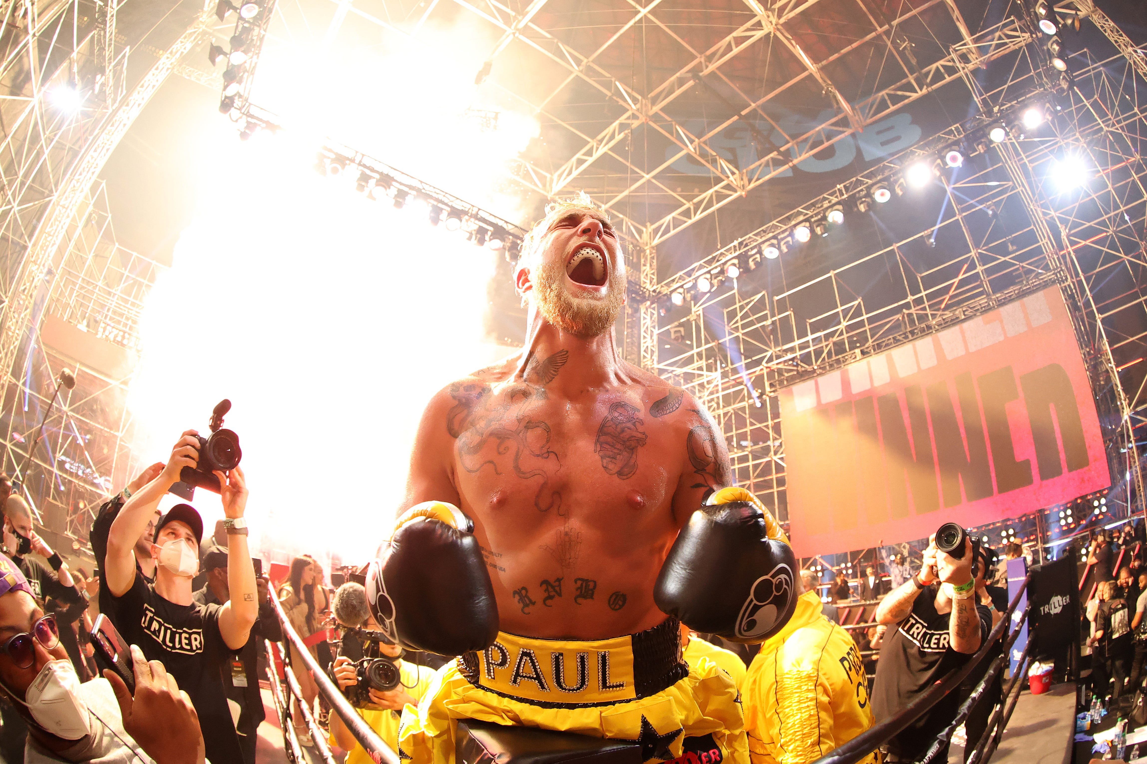Jake Paul knocks out former MMA fighter Ben Askren in Triller Fight Club boxing match