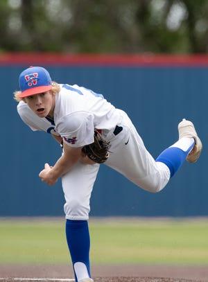 Westlake freshman Chance Covert II threw four innings of shutout baseball during the 19-3 win by Westlake over Akins Saturday at Westlake High School.