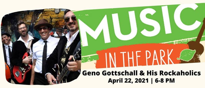 Geno Gottschall & his Rockaholics will be the featured artists at Thursday's Music in the Park in Downtown Smithville.