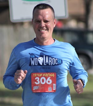 Chuck McCauley, the Bartlesville Public Schools Superintendent, enjoys the challenge of completing last month's KLIFE 10K run in Bartlesville. Scheduled this coming weekend is the Shamrock the 'Ville 5K. McCauley finished fifth overall in the 10K, in 51:51.