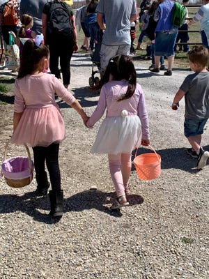 Families from across the state, and some from out of state, brought Easter baskets to fill.