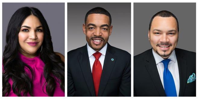 Lourdes Barroso de Padilla, left, and Nick Bankston, right, will run with Shannon G. Hardin for Columbus City Council