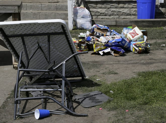 Neighborhood residents faced a lot of clean-up after about 1,000 people crowded the annual ChittFest party near the Ohio State University campus on April 17.
