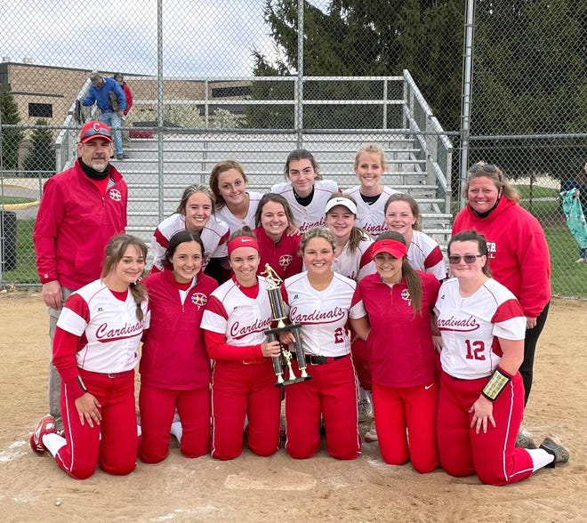 The Coldwater Lady Cardinals captured the crown at the Sturgis Softball Invitational this past Saturday.