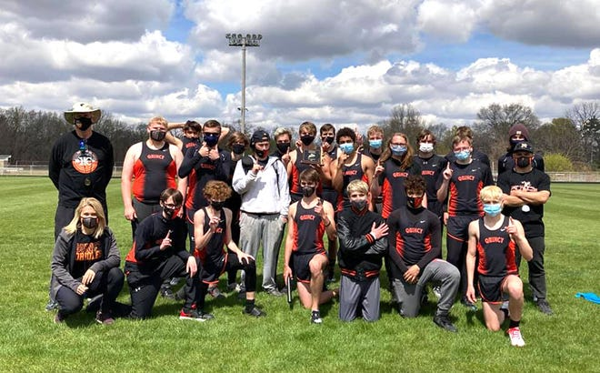 The Quincy Oriole boys track team rolled through the competition at the Dale Shook Invite this past weekend