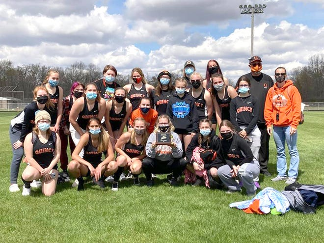The Quincy Lady Orioles were dominant in their win Saturday at Colon's Dale Shook Track Invitational