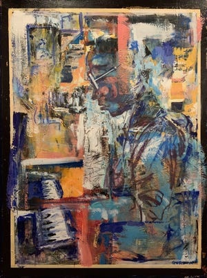 """""""Da Capo,"""" a mixed media work by Geoffrey Gordon of Oakmont, won first place in the 48th annual Hoyt Regional Juried Art Competition."""