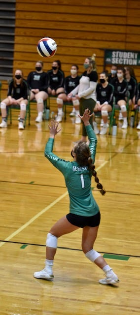 Senior Maggi Weller had 1 ace, 3 assists and 5 digs in Geneseo's victory over Orion.