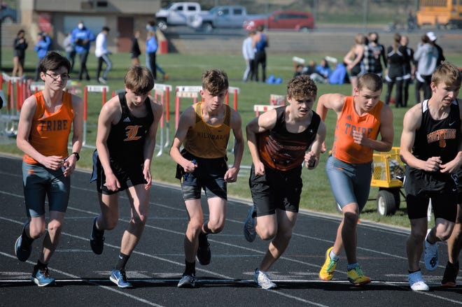 The Hillsdale boys track and field team took second place at the Marshall Invitational.