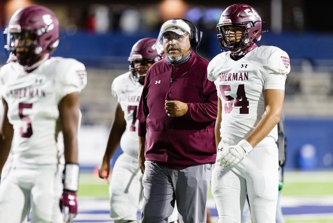 Sherman head football coach J.D. Martinez has stepped down after five seasons to take the football coach and athletic director position at Bridgeport.
