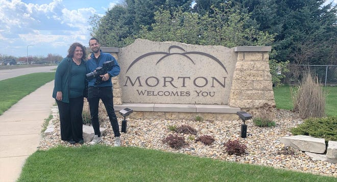 Candice Cain and Nelson Smith from Gemelli Films felt welcome in Morton last weekend.