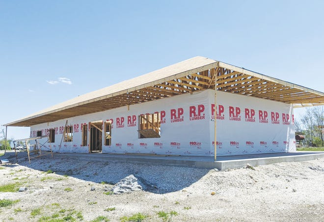 A view of the construction work being done to the future Rock Island Depot center.