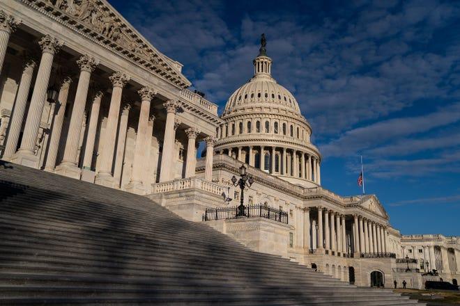 The U.S. Capitol Building, on Saturday, Jan. 16, 2021, in Washington, D.C. (Kent Nishimura/Los Angeles Times/TNS)