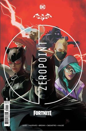 """Mikel Janin's cover to """"Batman/Fortnite: Zero Point"""" #1."""