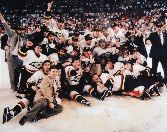 Twenty-five years ago, the Oklahoma City Blazers won a Central Hockey League title. It was about more than hockey because it came a year and a day after the Oklahoma City bombing.
