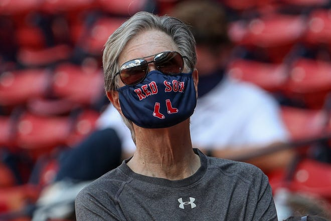 Jul 11, 2020; Boston, Massachusetts, United States; Boston Red Sox owner John Henry attends the summer camp practice at Fenway Park. Mandatory Credit: Paul Rutherford-USA TODAY Sports