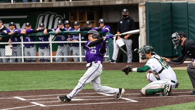 Tarleton State's Bryan Aguilar hit a solo home run in the 5th in the Texans' Sunday game against Utah Valley.