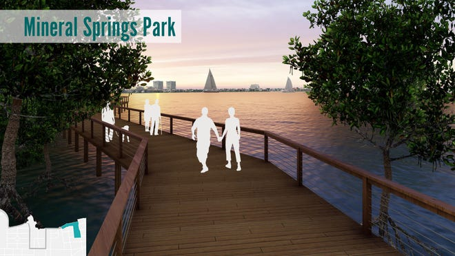 The city of Bradenton is extending the Riverwalk to the east. The project includes a boardwalk at Mineral Springs Park.