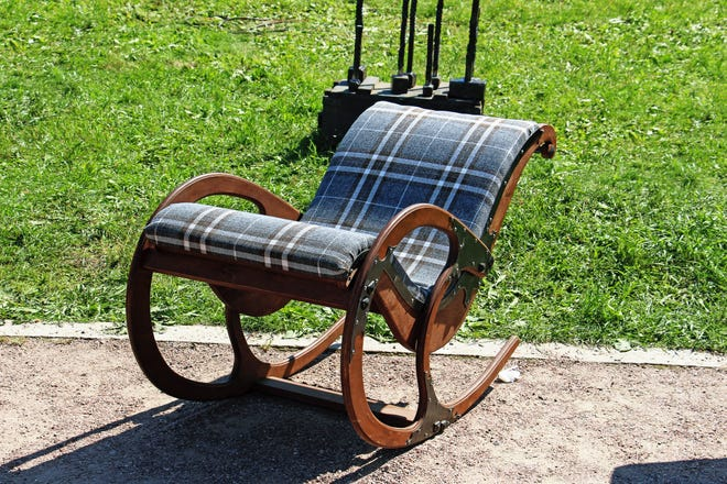 FREE TO A GOOD HOME: Cast off furniture, like this rocking chair, clothing, plant cuttings and equipment loans are some of the millions of items circulating among neighbors all over the world who are taking part in the Buy Nothing Project.