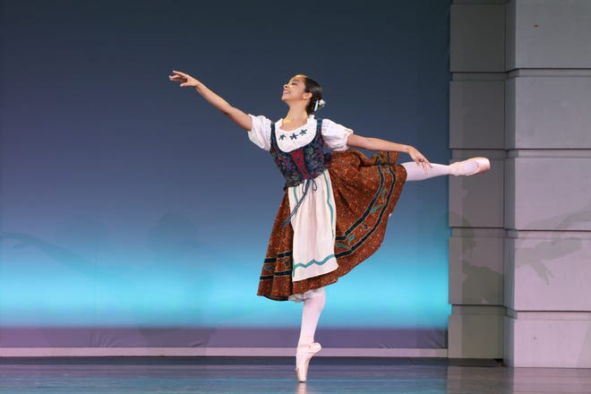 """Terri Jean Thomson, seen in a performance of """"Coppelia,"""" is one of the dancers from The Sarasota Ballet Studio Company creating new choreography for the outdoor """"Voices of Her"""" program."""
