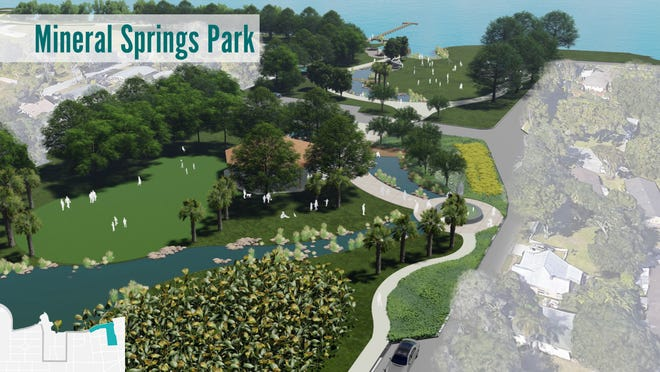 The city of Bradenton is extending the city's Riverwalk to the east. The project includes renovations at Mineral Springs Park.