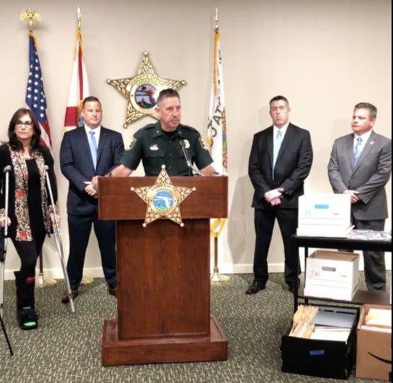 Sarasota County Sheriff Kurt Hoffman during a press conference on Monday.