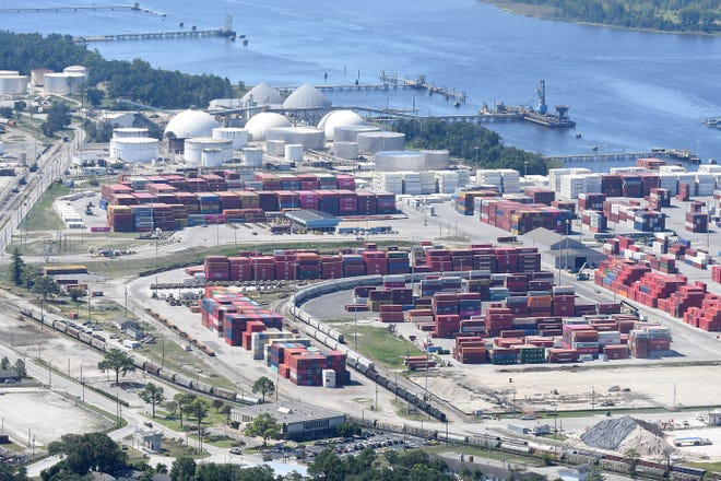 Aerial photos of state ports in Wilmington, N.C. on August 29, 2019.