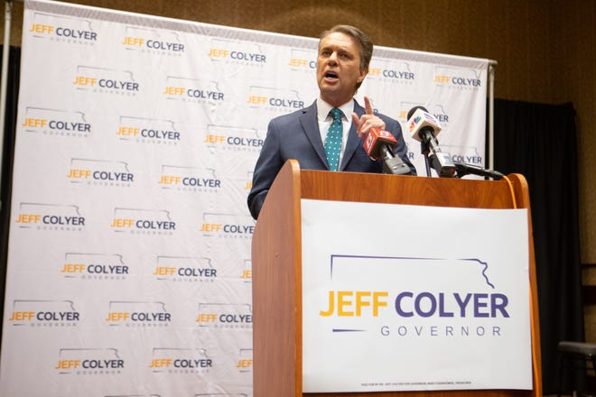 Former Gov. Jeff Colyer withdrew from the 2022 gubernatorial race citing a cancer diagnosis.
