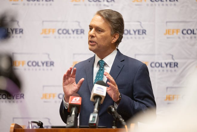 Former Gov. Jeff Colyer announced his Kansas gubernatorial run for 2022 with the help of an endorsement by U.S. Sen. Roger Marshall.