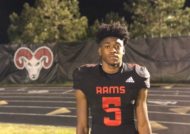 Four-star 2023 Rolesville wide receiver Noah Rogers, pictured here after a first-round playoff win in April, enters his junior season with 16 Division I scholarship offers and major interest from in-state programs UNC and N.C. State.