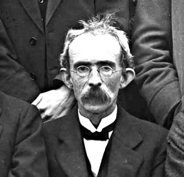 After 15 years of torture in prison, Thomas Clarke had aged considerably.  He was a quiet, physically small man but he was a fierce rebel who helped to orchestrate the 1916 Easter Rising.  He remained steadfast to the end, and was executed by firing squad in May of that year.