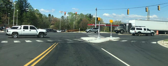 A reader says this reworked intersection at U.S. 25 and Old Airport Road in the Arden-Fletcher area is dangerous. The DOT is addressing the timing issue with the signal.