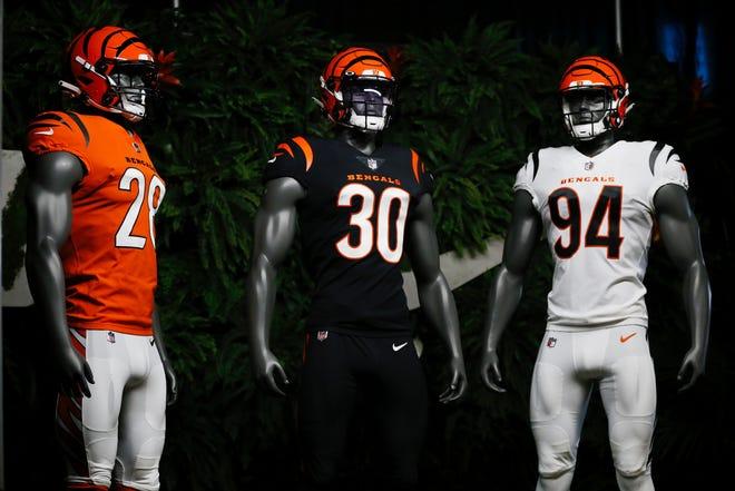 The Cincinnati Bengals unveiled new uniforms Monday morning at Paul Brown Stadium.