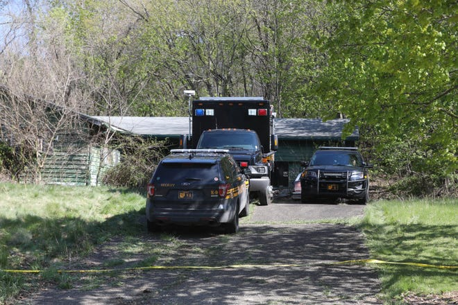 Personnel with the Coshocton County Sheriff's Office and the Ohio Bureau of Criminal Investigation were on scene Monday at a vacant house in the 1800 block of Chestnut Street where the dead body of Brianna Ratliff was found Sunday evening. Ratliff went missing Thursday evening in the vicinity of Hall Park.