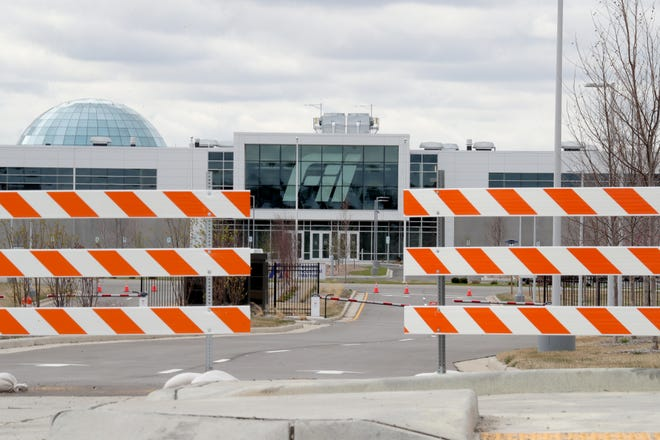 The Foxconn complex in Mount Pleasant on Monday, April 19, 2021.  Gov. Tony Evers announced Monday that his administration and Foxconn officials have reached an agreement on new terms and that the new deal will go before the Wisconsin Economic Development Corp. Board of Directors for approval on Tuesday.