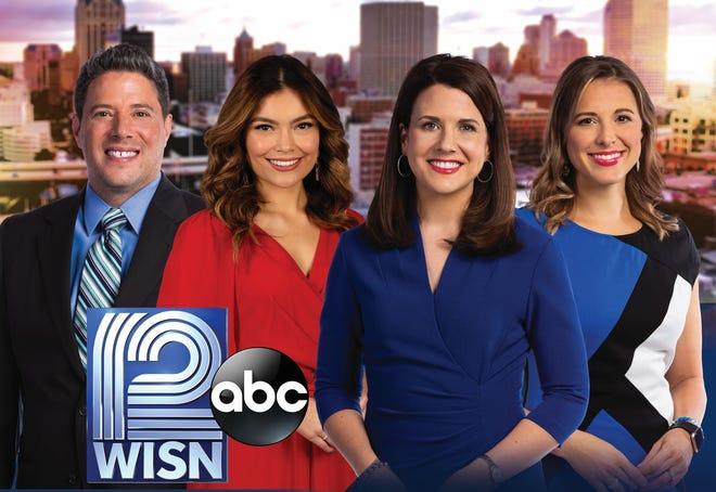 "The latest lineup for ""WISN 12 News This Morning"": From left, Matt Salemme, Diana Gutierrez, Adrienne Pedersen and Lindsey Slater."