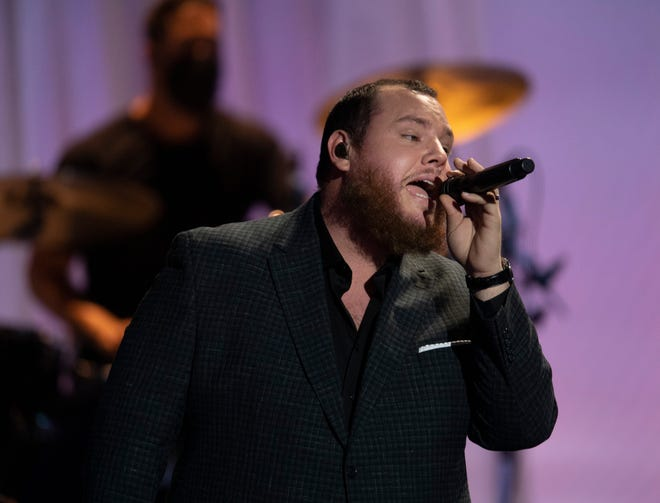 """Luke Combs performs """"Forever After All"""" during the 56th Academy of Country Music Awards at the Grand Ole Opry Friday, April 16, 2021 in Nashville, Tenn."""
